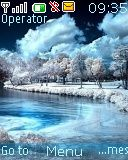 Winter scene theme screenshot