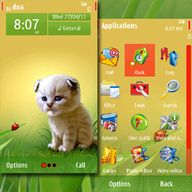 Ladybird and Kitten theme screenshot